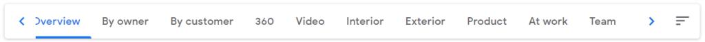 Google My Business Photo Categories