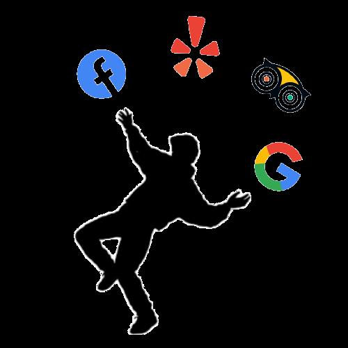 Struggling to juggle Facebook, Yelp, TripAdvisor, and Google