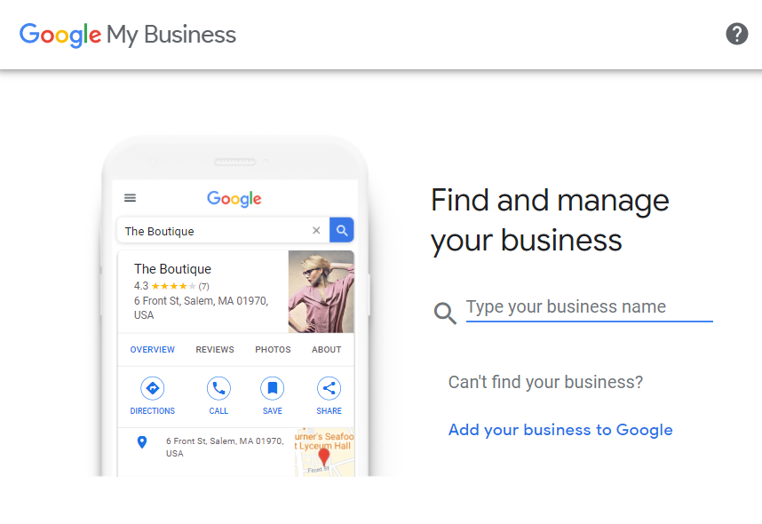 Find and Manage Your Google Business Profile