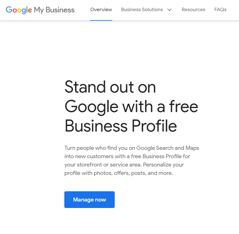 Manage Your Google Business Profile